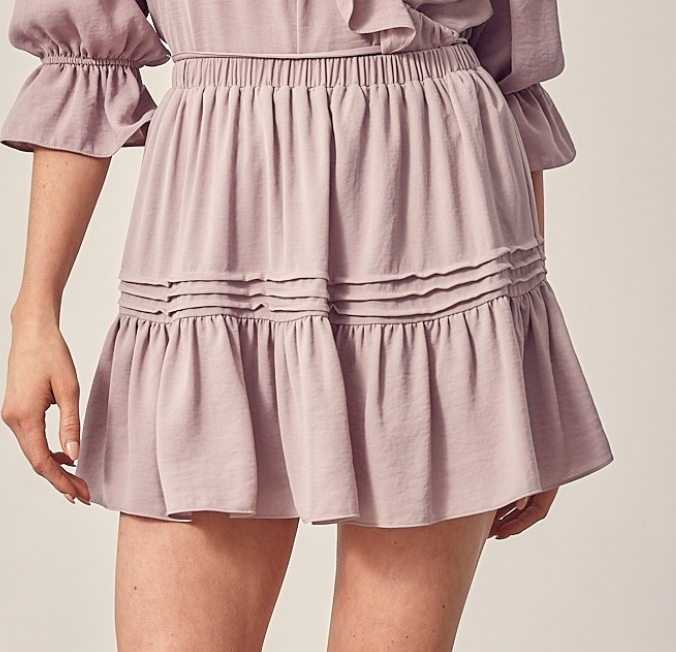 Summer Breeze Flowy Skirt with Shorts | Dusty Lilac