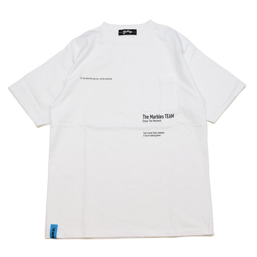 S/SL BD POCKET TEE #THE MARBLES TEAM
