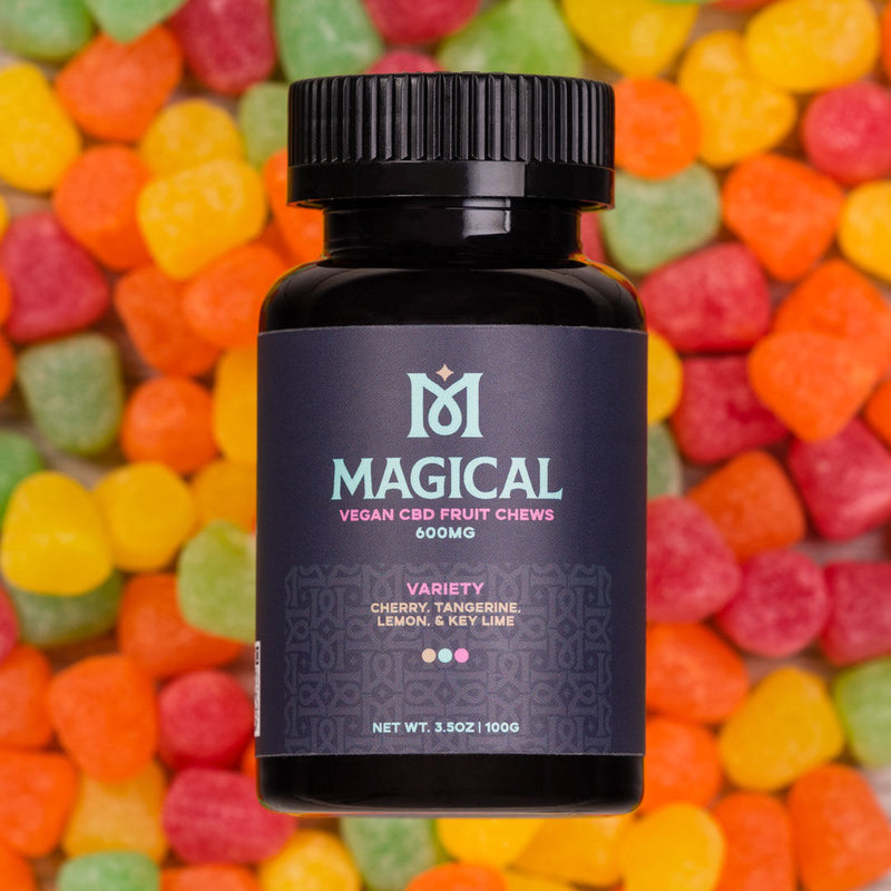 magical cbd vegan gummies variety flavors