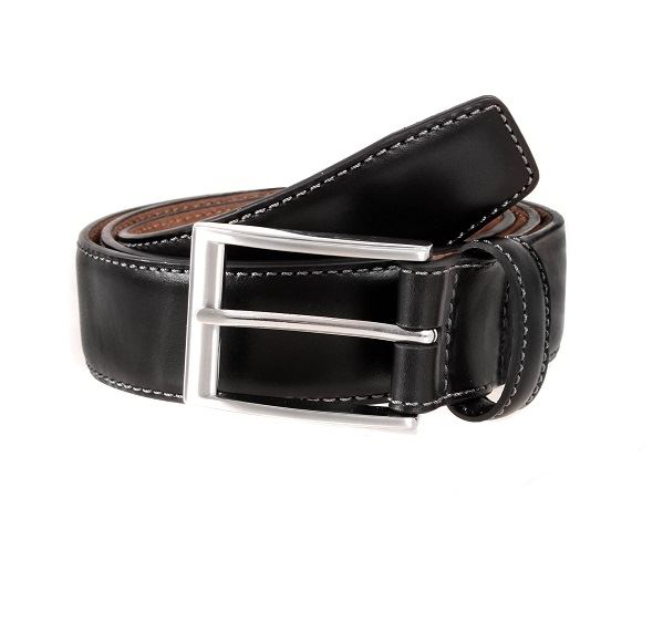 Mens Dents Black Full Grain Leather Belt