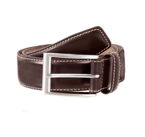 Mens Dents Brown Full Grain Leather Belt