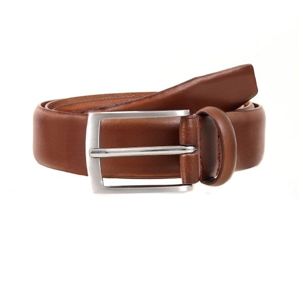 Mens Dents Tan Plain Leather Belt