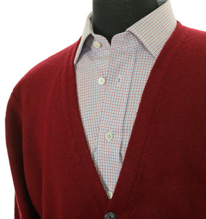 Load image into Gallery viewer, Mens Burgundy Merino and Cashmere Blend Cardigan