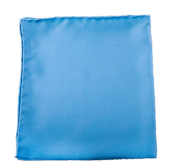 Plain Sky Silk Pocket Square