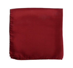 Plain Red Silk Pocket Square
