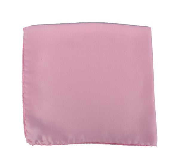 Plain Pink Silk Pocket Square