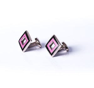 Cut Out Square Base Metal Cufflinks