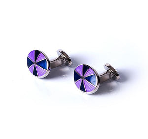Oval Target Base Metal Cufflinks