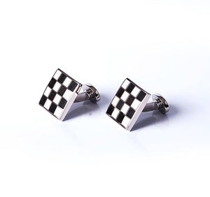 Load image into Gallery viewer, Square Grid Base Metal Cufflinks