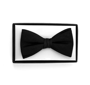 Black Silk Ready Tied Bow Tie