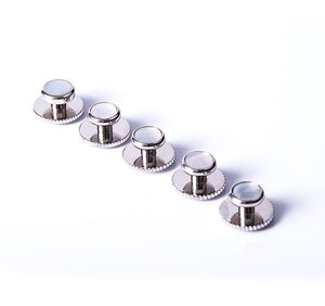 Silver and Mother of Pearl Dress Studs (set of 5 studs)