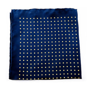 Load image into Gallery viewer, Blue Spotted Silk Pocket Square