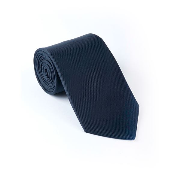 Load image into Gallery viewer, Navy Plain Printed Tie