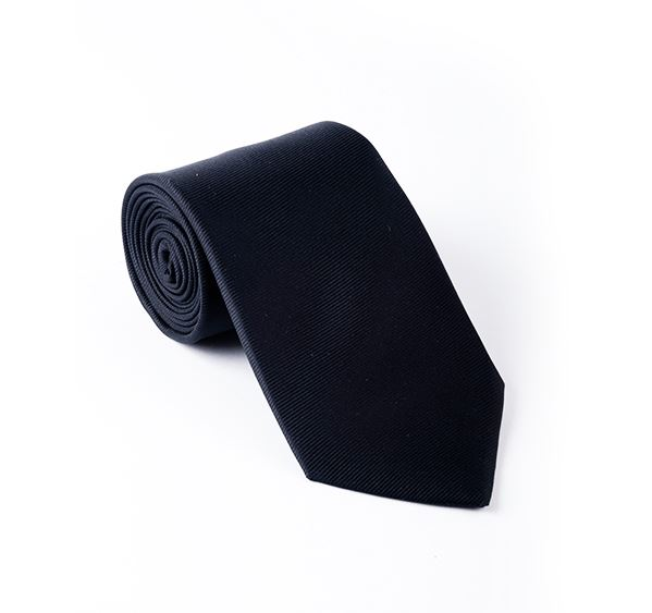 Black Plain Printed Tie