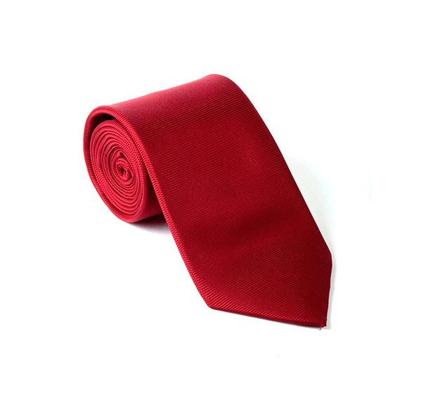 Red Plain Printed Tie