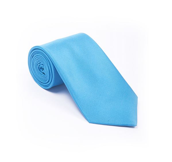 Light Blue Plain Printed Tie