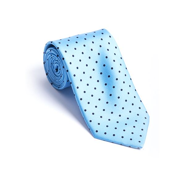 Light Blue Spot Printed Tie