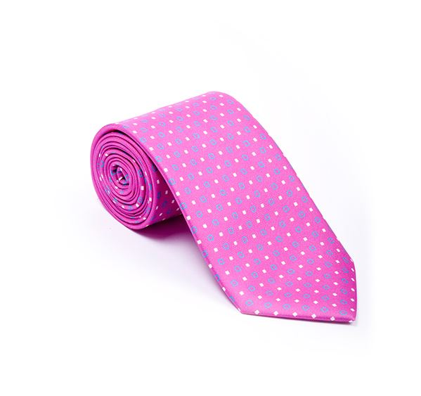 Pink Fancy Printed Tie