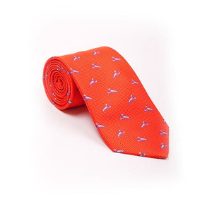 Orange Lobster Printed Tie