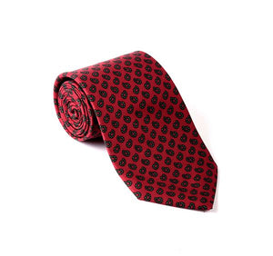 Load image into Gallery viewer, Red Paisley Printed Tie