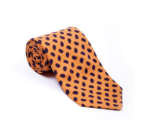 Load image into Gallery viewer, Orange Small Paisley Printed Tie
