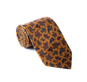 Load image into Gallery viewer, Orange Paisley Printed Tie