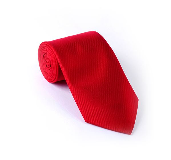 Scarlet Red Plain Printed Tie