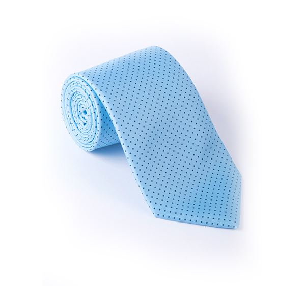 Light Blue Pin Spot Printed Tie