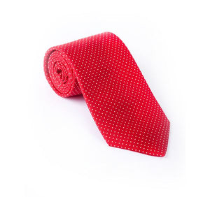 Red & White Pin Spot Printed Tie