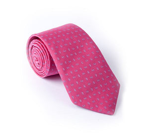 Load image into Gallery viewer, Pink Fancy Woven Tie