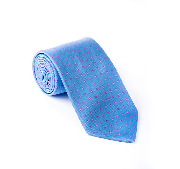 Light Blue Fancy Woven Tie