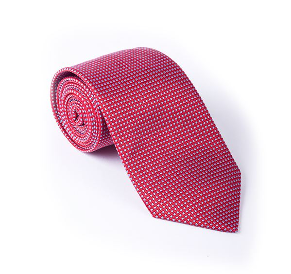 Red & Lilac Fancy Woven Tie