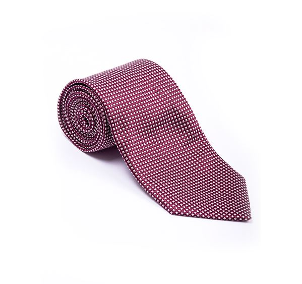 Load image into Gallery viewer, Burgundy Fancy Woven Tie