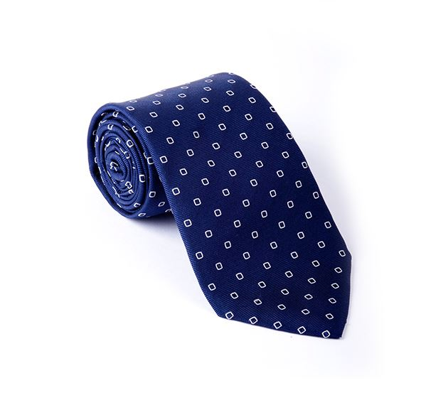 Load image into Gallery viewer, Navy Fancy Woven Tie