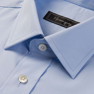 Slim Fit Men's Plain Light Blue Shirt