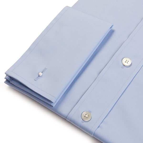 Regular Fit Men's Plain Light Blue Shirt