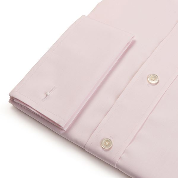 Regular Fit Men's Plain Pink Shirt