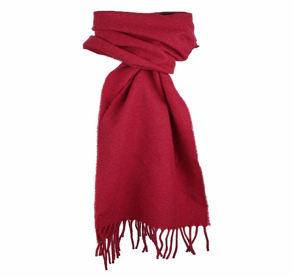 Dents Plain Burgundy Lambswool Scarf