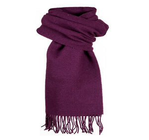 Dents Plain Purple Lambswool Scarf