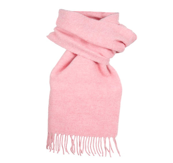 Dents Plain Pink Lambswool Scarf