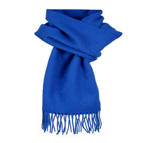 Dents Plain Blue Lambswool Scarf