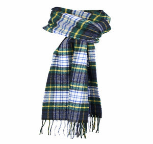 Dents Dress Gordon Tartan Check Lambswool Scarf