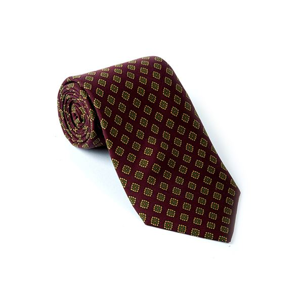Load image into Gallery viewer, Maroon Fancy Printed Tie