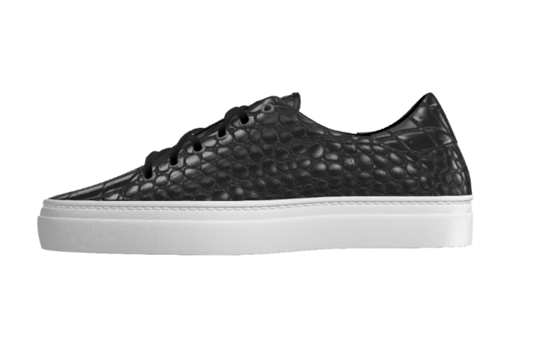 Load image into Gallery viewer, Painted Black Croco Trainer