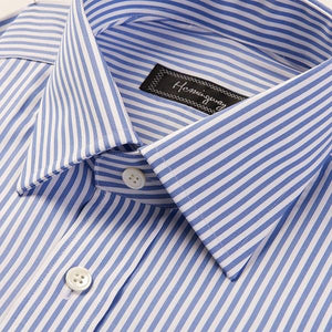 Regular Fit Men's Blue Bengal Stripe Shirt