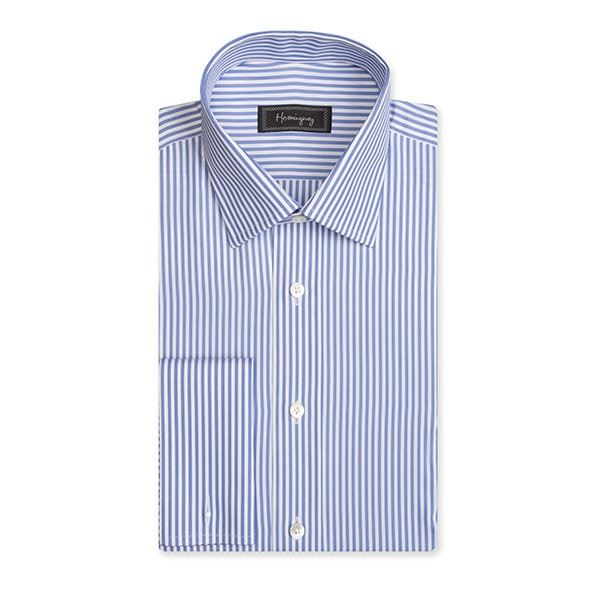 Slim Fit Men's Blue Bengal Stripe Shirt