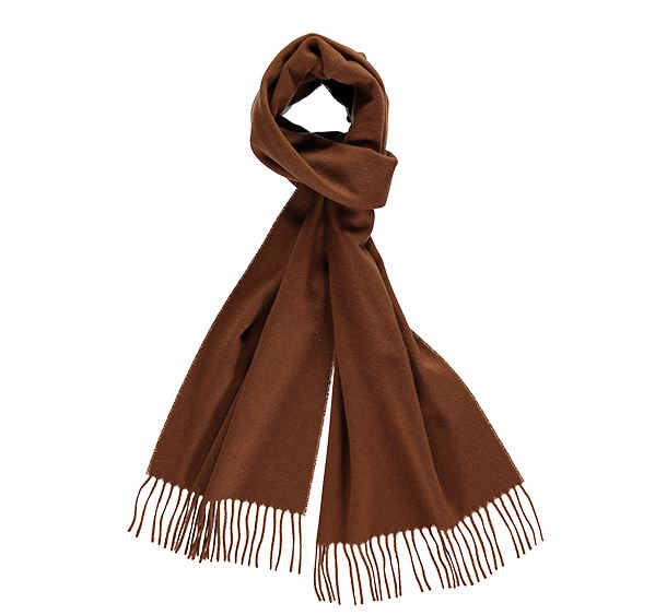 Plain Brown Cashmere Scarf