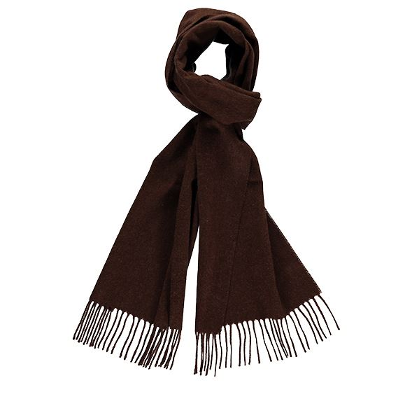 Plain Chocolate Brown Cashmere Scarf