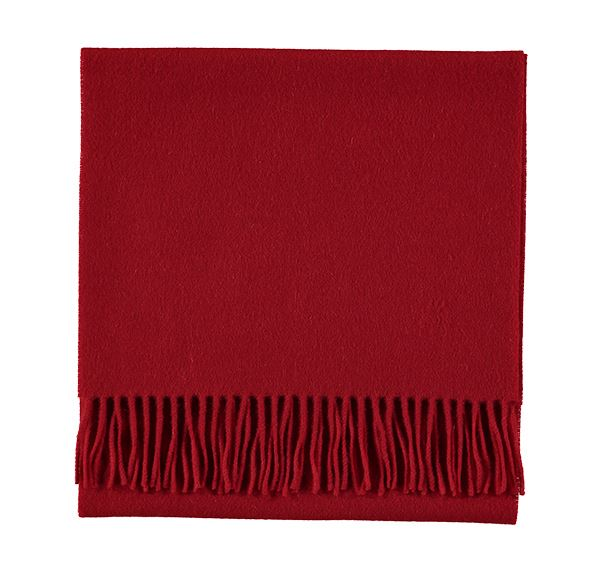 Plain Scarlet Red Cashmere Scarf