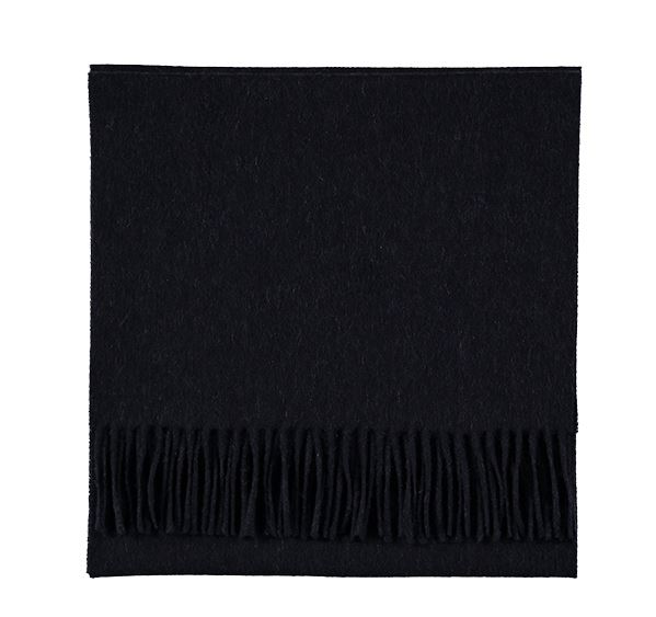 Plain Dark Blue Cashmere Scarf